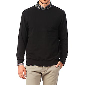 Jack and Jones PRM Rundhals schwarz Jumper