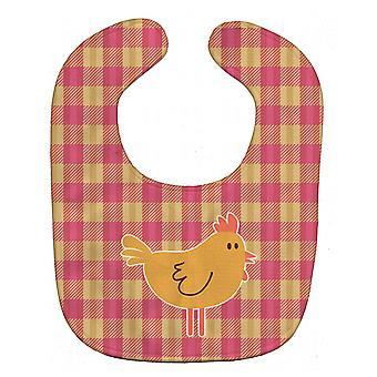 كارولين الكنوز BB7090BIB الدجاج الدجاجة على القماش القطني مريلة بيبي