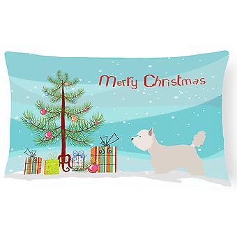 Westie Christmas Canvas Fabric Decorative Pillow