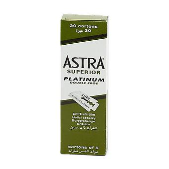 Astra Superior Platinum Double Edge Razor Blades Green (100 Blades)