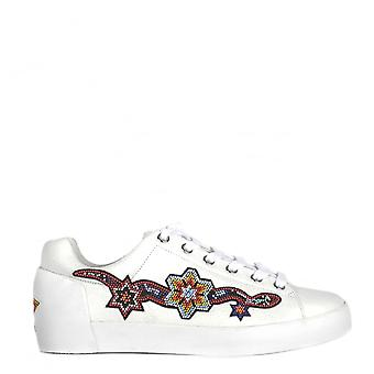 Ash Footwear Namaste White Leather Beaded Trainer