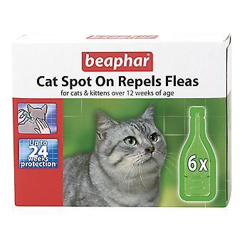 Beaphar kat plek op 24 Week vlo bescherming 6 x 0,8 ml