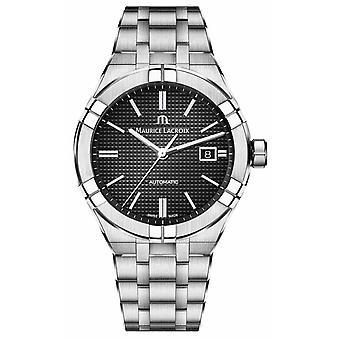 Maurice Lacroix Aikon automatische Stainless Steel zwarte wijzerplaat AI6008-SS002-330-1 Watch