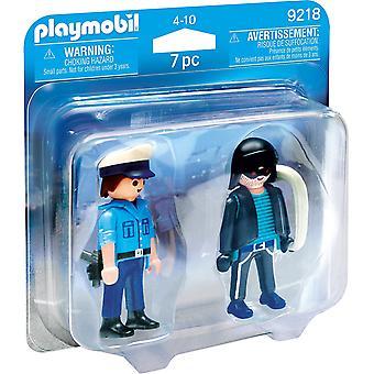 Playmobil 9218 التحصيل شرطي ولص ديو حزمة