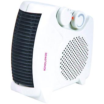 Kingavon Electric Upright Flat Fan Heater 2000W 2kW White