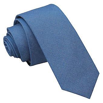 Parisisk blå chambrey bomuld mager slips