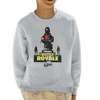 Fortnite bataille Royale avec Dog Tags Sweat-shirt enfant