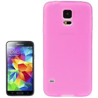 TPU kattaa Samsung Galaxy S5 / S5 neo läpinäkyvä pinkki