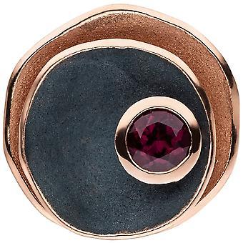 Rodolite fascino 925 argento rosa oro placcato rosso opaco nero 1