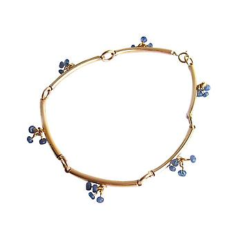 Sapphire Sapphire bracelet Safirarmband blue gold plated