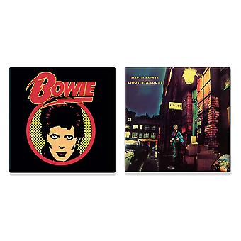 David Bowie 2 x Fridge Magnet ziggy starduct new official Gift set