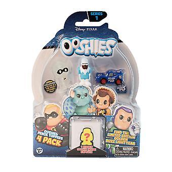 Ooshies Pixar 4 Pack Asst - onda 1 - surtida