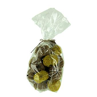 Bag of Natural Brown and Green Dried Angel Vine Decorative Pumpkins