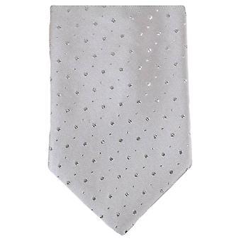 Knightsbridge Neckwear Glitter Tie - Silver