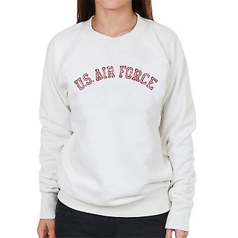 US Airforce utbildning röd Text nödställda kvinnors tröja