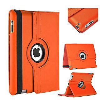 Für Apple iPad Pro 12.9 2018 3. Gen 360 Grad Hülle Cover Tasche Orange Kunst Leder Case Neu