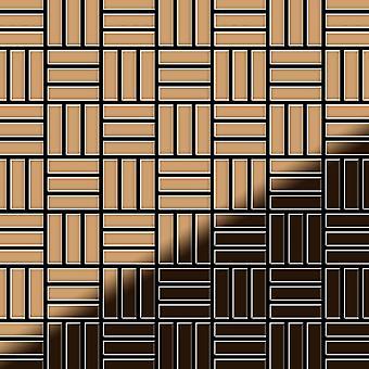 Metal mosaic Titanium ALLOY Basketweave-Ti-AM