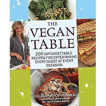 Tabellen Vegan: 200 oförglömlig recept för underhållande varje gäst för varje tillfälle