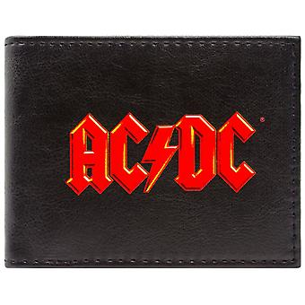 AC/DC Music Rock Band Logo ID & Card Bi-Fold Wallet