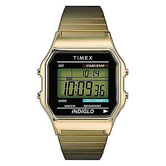 Timex T78677U8 הגברים הדיגיטלי פרק כף היד לצפות, פלדת אל-חלד, זהב