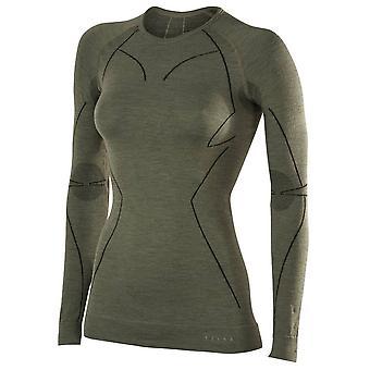 Chemise à manches longues laine Falke Tech - Vert Olive