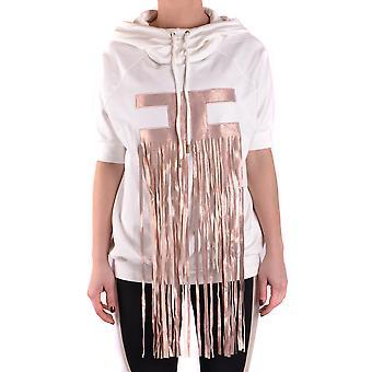 Elisabetta Franchi Ezbc050100 Women's White Cotton Sweatshirt