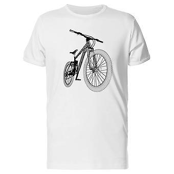 Mountainbike Fahrrad 3D-Struktur T-Shirt Herren-Bild von Shutterstock