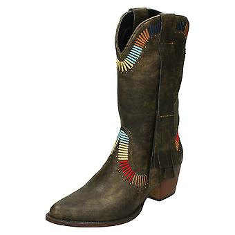 Ladies Down To Earth Cowboy Style Boots