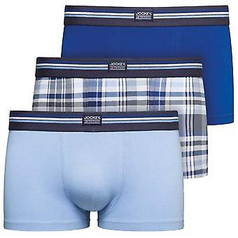 Jockey Cotton Stretch 3-Pack Short Trunks, Just Blue, Small
