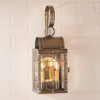 Irvin's Country Tinware Double Wall Lantern in Weathered Brass