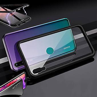 O íman Huawei Y7 Pro 2019 / metal / vidro caso para-choque preta / transparente caso capa nova