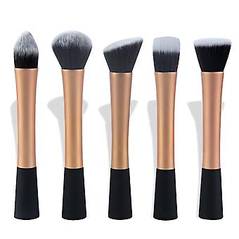 5 stk Gold make-up/makeup børster av beste kvalitet