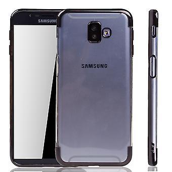 Étui de téléphone pour Samsung Galaxy + plus noir-Clear-TPU étui en silicone housse de protection étui en transparent/brillant bord noir