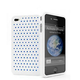 Cygnett Molecule Perforated Silicone Case for iPhone 4 (White)