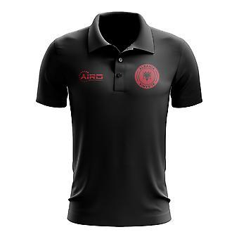 Albanië voetbal Polo shirt (zwart)