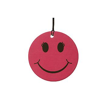 Pink Female Smiley Face Car Air Freshener