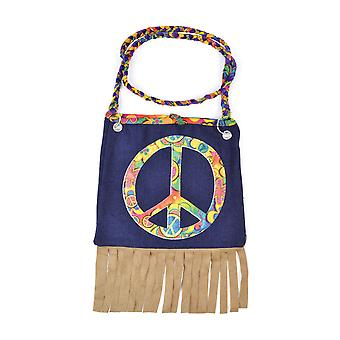 Bristol Novelty Peace Symbol Hippie Handbag