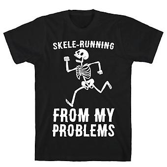Skele-running from my problems t-shirt