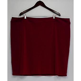 Linea by Louis Dell'Olio Plus Skirt Moss Crepe Knit Magenta Purple A262454