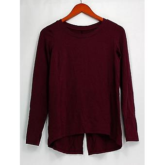 AnyBody Petite Sleepshirt XXSP Loungewear Cozy Knit Red A309172