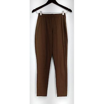 Women with Control Leggings Fit Pull-On Knit Light Brown New A23594