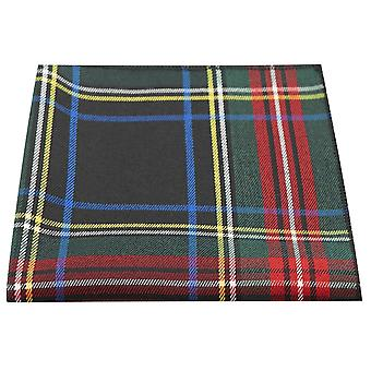 Traditionella mörkgrön & svart Tartan Pocket Square, näsduk, Check, pläd