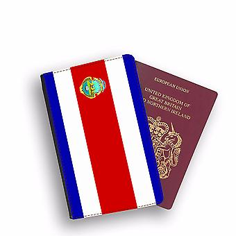COSTA RICA Flag Passport Holder Style Case Cover Protective Wallet Flags design