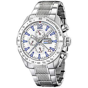 Festina | Mens Chronograph & Dual Time | Silver Dial | Stål armband F20439/1 klocka