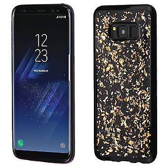 MYBAT Gold Flakes (Noir) Krystal Gel Series Candy Skin Cover pour Galaxy S8 Plus