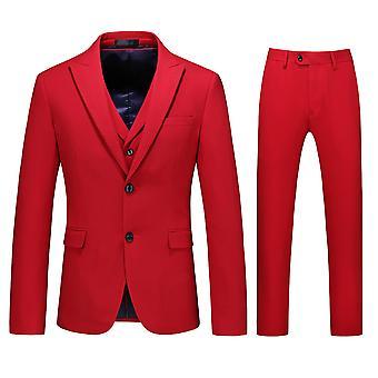 Allthemen Men's 3-Piece Peak Lapel Business Casual Blazer&Vest&Pants