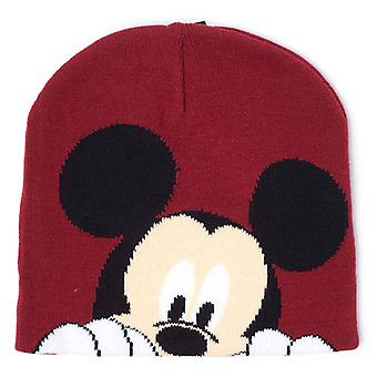 Mickey Mouse Beanie kalap Magic arc logo Jacquard új hivatalos Disney Red