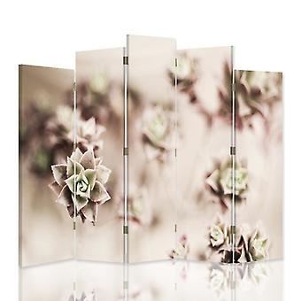 Dekorative Rand-/Innenwandlin, 5 Paneele, doppelseitig, 360 ° Drehbare Leinwand, Sedum Rock