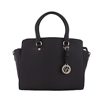 Stor håndtaske, design, sort