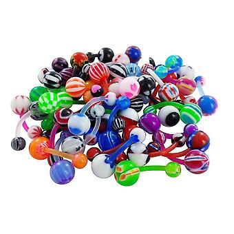 Lotto Di 5/10/25/50.  Piercing Nombril Flexible Flex All'ingrosso Dealer Punchers